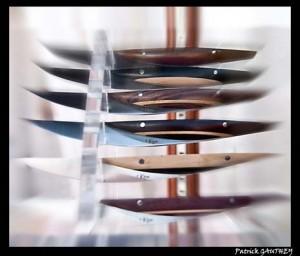 Quand des couteaux dévoilent l'esthétisme et l'allure de bateaux mythiques…