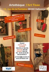 Valbonne : l'Artothèque associative l'Art Tisse communique…