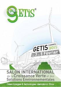 GETIS 2011, le Salon International de la Croissance Verte et des Solutions Environnementales les 3,4 et 5 Février 2011 au Palais des Festivals et des Congrès de Cannes…