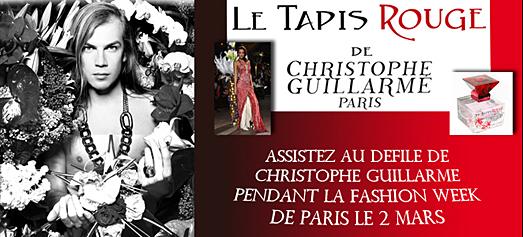 Christophe GUILLARME : Deux cadeaux de mode pour la Saint Valentin…