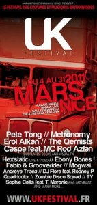 UK FESTIVAL à Nice: 4ème Edition Festival des cultures et musiques britanniques Mars 2011…