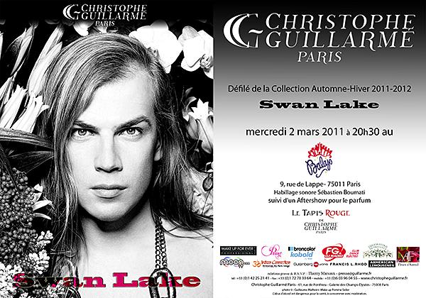 Mode : le créateur Christophe GUILLARME a présenté sa nouvelle collection Automne/Hiver 2011-2012 intitulée «Swan Lake»…