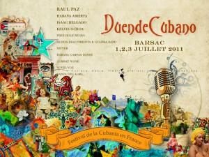Barsac : Festival Duende Cubano 1er, 2, et 3 Juillet 2011…