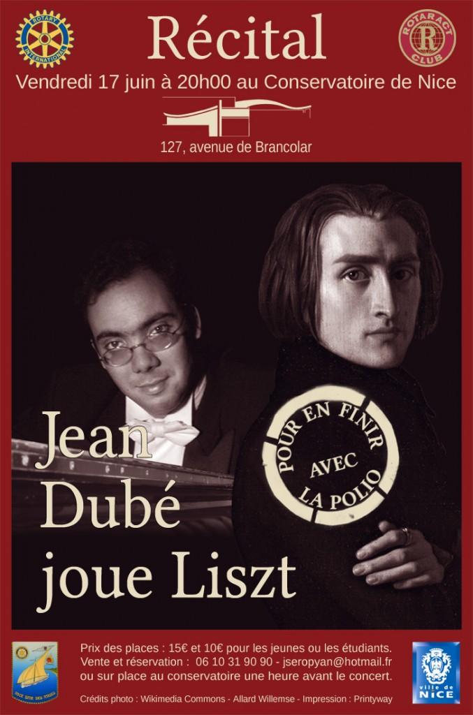 Opéra National de Nice : Concert exceptionnel du pianiste Jean DUBE consacré aux oeuvres de Franz LISZT