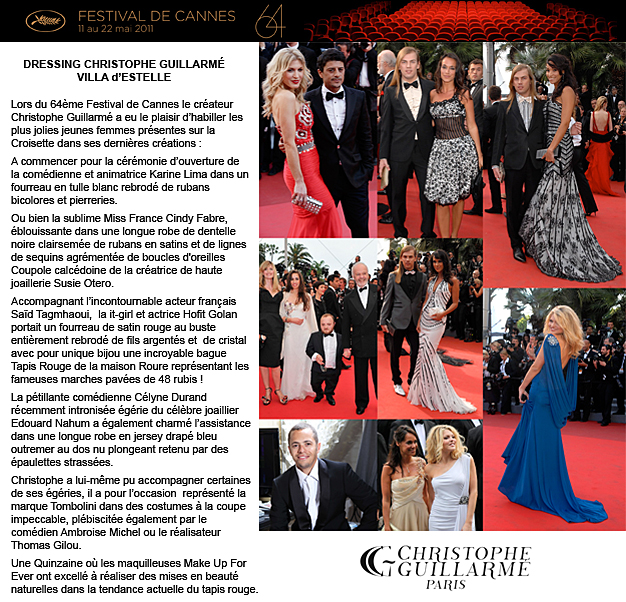 Christophe GUILLARME au 64 ème Festival de Cannes…