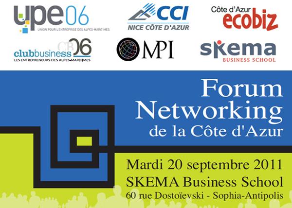 Forum networking de la c te d azur succ s confirm pour la - Chambre de commerce et d industrie nice cote d azur ...