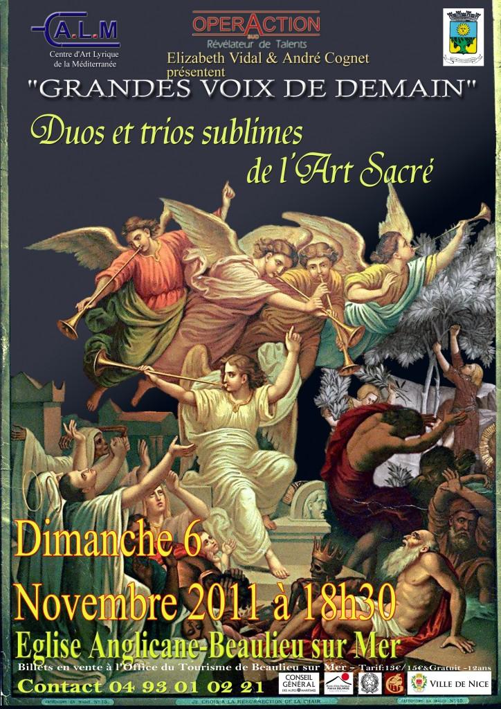 Beaulieu sur mer : «Concert Operaction» du 6 Novembre 2011…