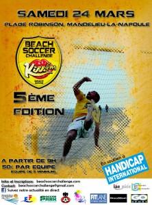 Mandelieu La Napoule : Tournoi de Beach Soccer en soutien à Handicap International…