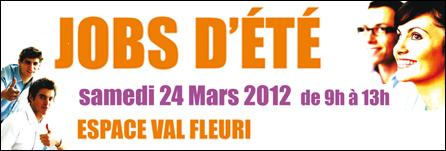 Cagnes sur mer : «Jobs d'été» samedi 24 Mars 2012 de 9h à 13h Espace Val Fleuri…