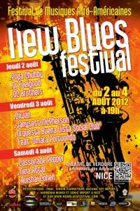 Nice : 1er «New Blues Festival» au Théâtre de Verdure du 2 au 4 Août 2012…