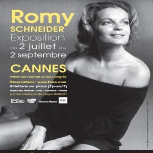 exposition consacr e romy schneider au palais des festivals et des congr s de cannes presse. Black Bedroom Furniture Sets. Home Design Ideas