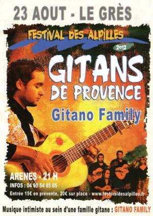 Dernière soirée du Festival des Alpilles «Gitano de Provence», le 23 Août 2012, dans les Arènes de Saint-Etienne du Grès…