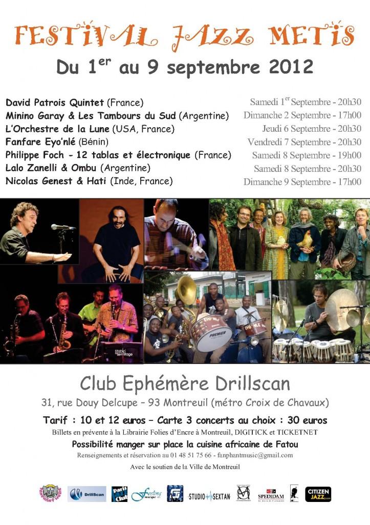 Montreuil : «2 ème édition du Festival Jazz Métis  » …