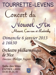Tourrette-Levens : Concert du Nouvel An Orchestre Philharmonique de Nice&#8230;
