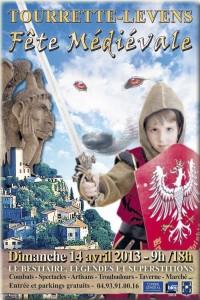 Tourrette-Levens : «Fête Médiévale» dimanche 14 Avril 2013…