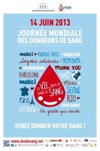 Santé : «Journée Mondiale des donneurs de sang en PACA et Corse le 14 Juin 2013 …»