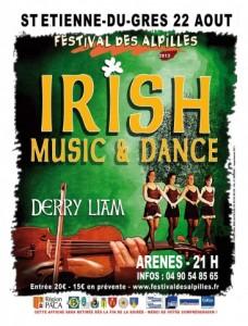 Saint-Etienne du Grès «Festival des Alpilles 2013 » : «Irish Music & Dance» Musiques et Danses Irlandaises avec les musiciens et danseuses de DERRY LIAM…