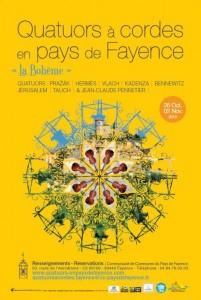 «25 ème Festival de Quatuors à Cordes en Pays de Fayence» …