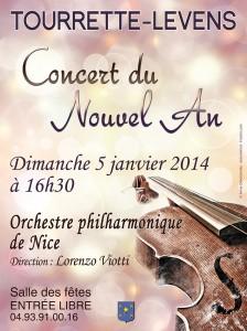 Tourrette-Levens : «Concert du Nouvel An 2014   »  …