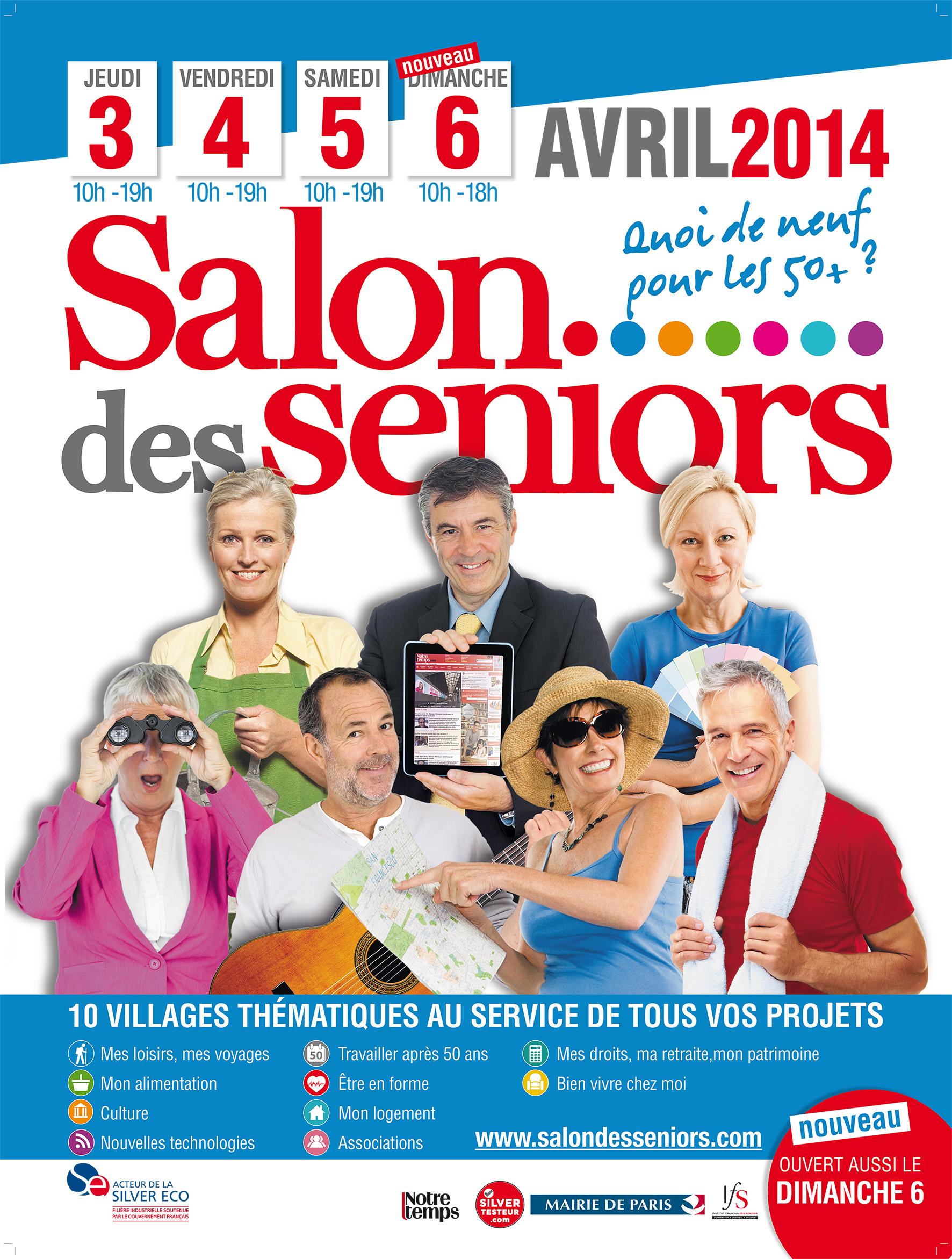 Paris la 16 me dition du salon des seniors ouvre ses for Porte de versailles salon des seniors