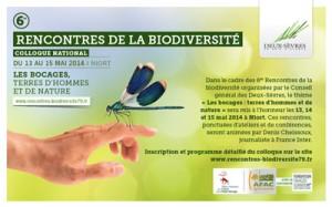 Niort (79) : «6 ème Rencontres de la Biodiversité » …