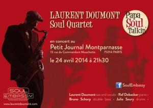 Paris Jazz : le Jazzman Belge Laurent DOUMONT en concert au «Petit Journal Montparnasse»…