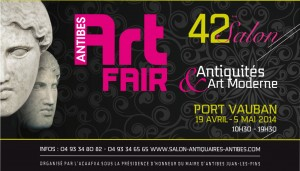 Antibes : « 42ème Salon d'Antiquités D'ART MODERNE et CONTEMPORAIN « ANTIBES ART FAIR »…