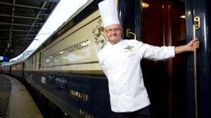 Paris – Venise : Christian Bodiguel, Chef Exécutif de l'emblématique «Venice Simplon-Orient-Express», célèbre sa 30ème année de carrière à bord, durant la saison 2014.