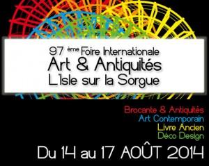 Isle-sur-la-Sorgue (84) : 97 ème Foire Internationale Art & Antiquités…