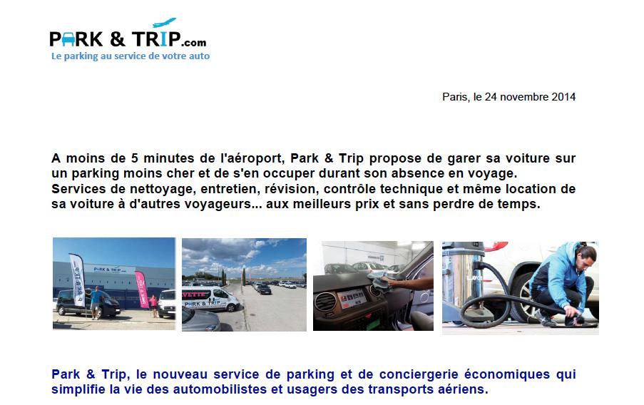 Park & Trip.com : Le Parking au service de votre auto…