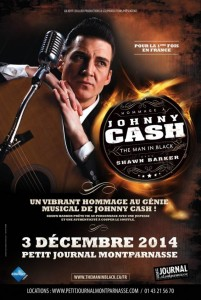 Jazz Paris : « The Man in Black Hommage à Johnny CASH » avec « Shawn BARKER » au Petit Journal Montparnasse…