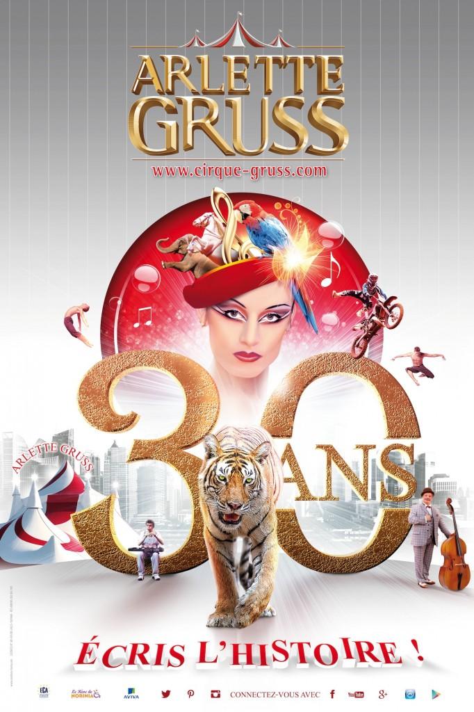 Le cirque Arlette Gruss fête son trentième anniversaire avec un nouveau spectacle exceptionnel…