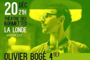 La Londe (83) : Concert Jazz du Groupe d'Olivier Bogé au profit des sinistrés…