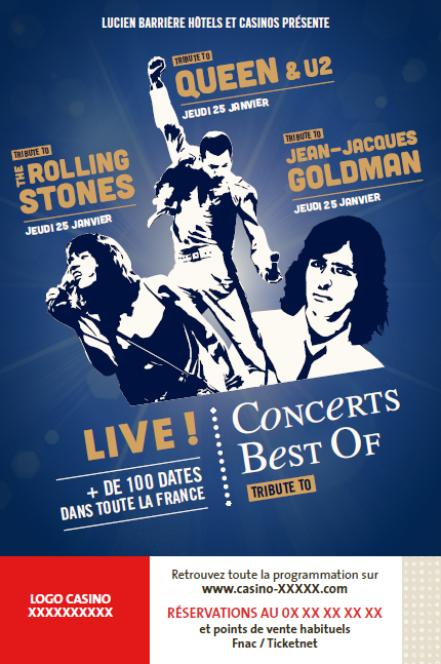 The Rolling Stones, Queen, U2 et Jean Jacques Goldman en concert « Best of » sur les scènes Barrière !…