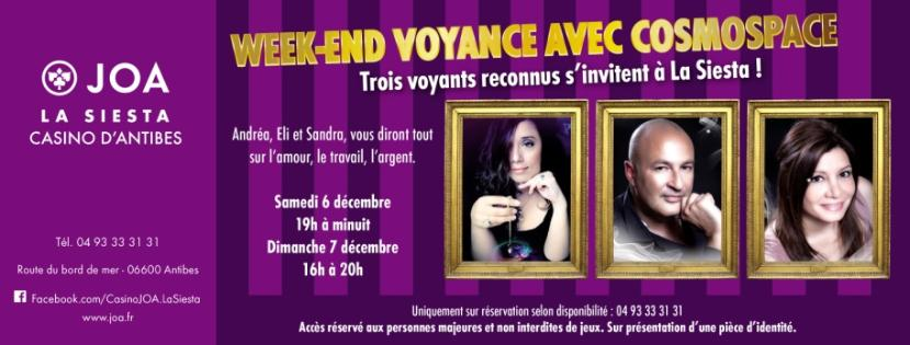 Antibes : Week-end voyance au Casino JOA La Siesta…