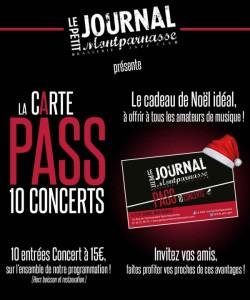 Jazz Paris : Cadeau de Noël… la Carte Pass 10 concerts est disponible…