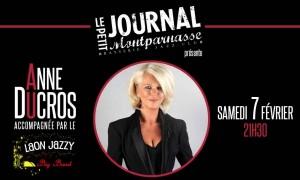 Jazz Paris : Anne DUCROS accompagnée par le Laon Jazzy Big Band au Petit Journal Montparnasse…