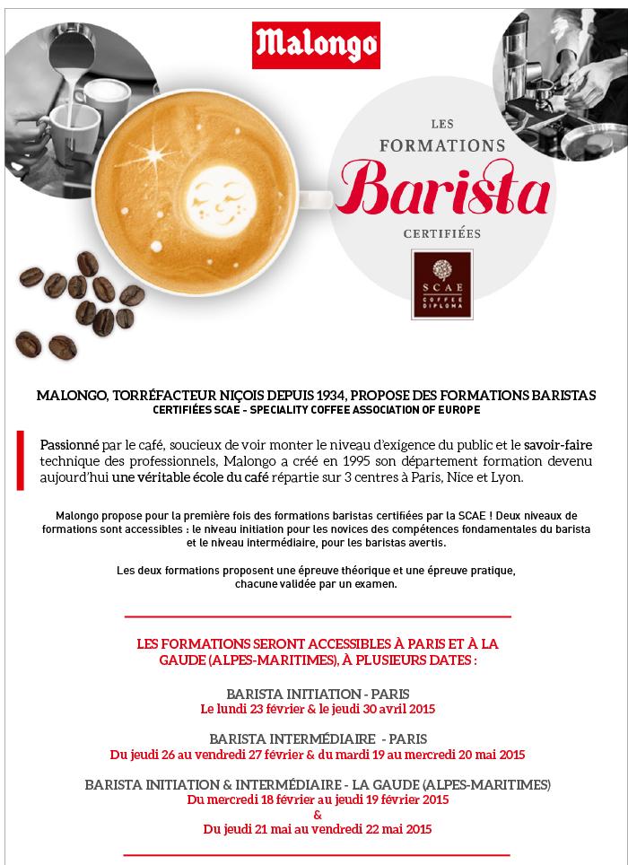 Nice : Les formations Barista 2015 certifiées par les cafés Malongo…