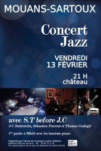 Mouans-Sartoux : Concert Jazz avec le groupe ST. Before J.C…