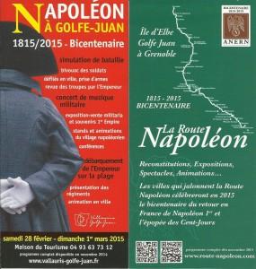 Golfe-Juan : Programme de l'Année du Bicentenaire de la Route Napoléon 1815-2015…