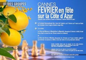 Trois nouvelles Offres Groupes viennent enrichir les séjours à Cannes en Février…