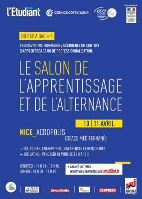 Nice 1er salon de l apprentissage et de l alternance for Salon de l etudiant nice