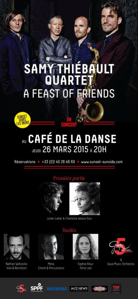 Paris : Samy THIEBAULT Quartet se produit au Café de la Danse…