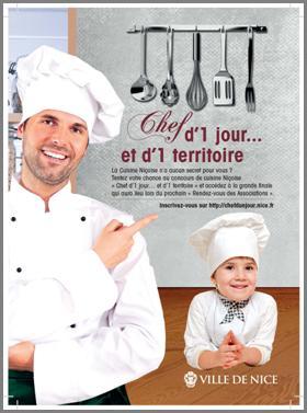 Concours de cuisine niçoise : La Ville de Nice lance «Chef d'un jour…et d'un territoire»…