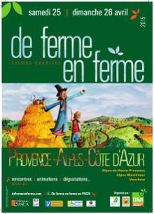 «De ferme en ferme» dans les Alpes-Maritimes les 25 et 26 avril 2015…