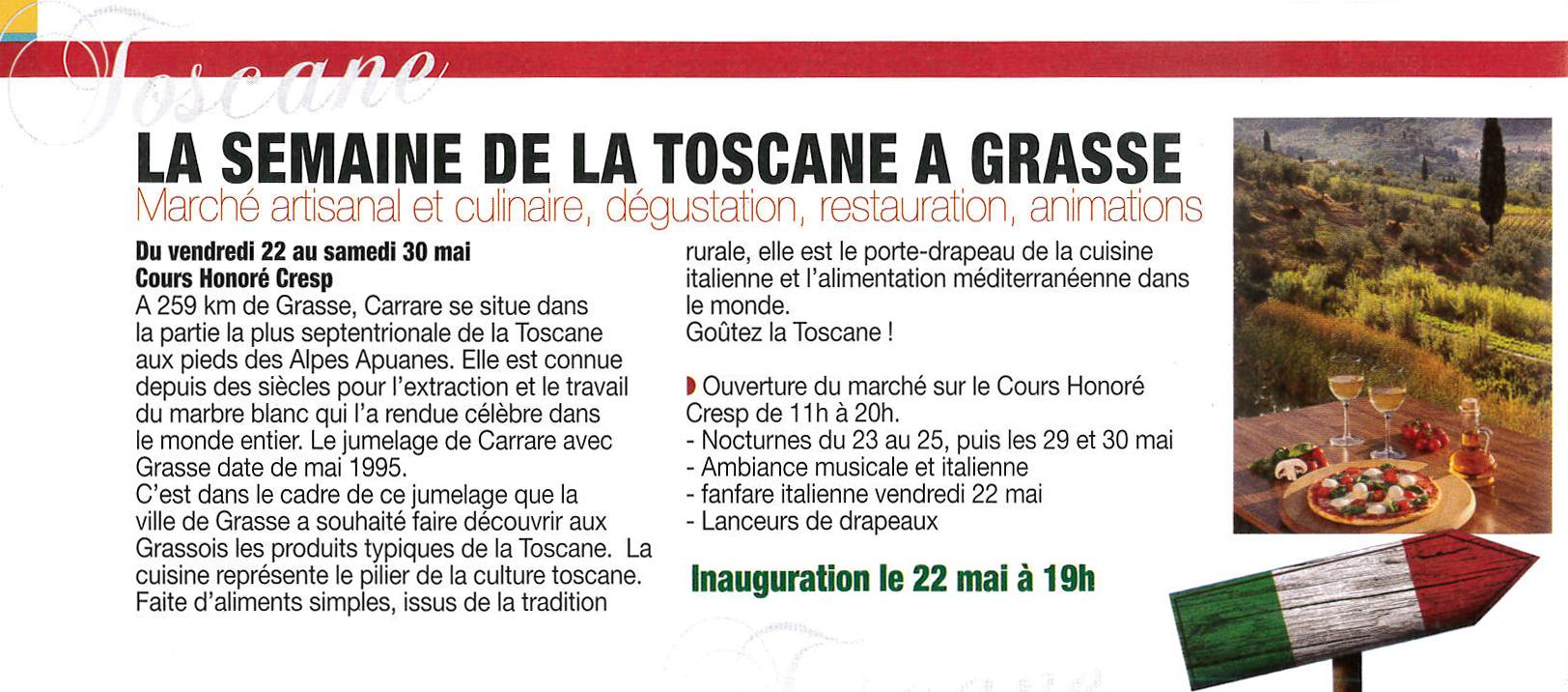 Grasse : Semaine de la Toscane…