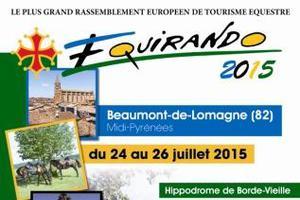 50 ème édition de l'Equirando, plus grand rassemblement européen de tourisme équestre…