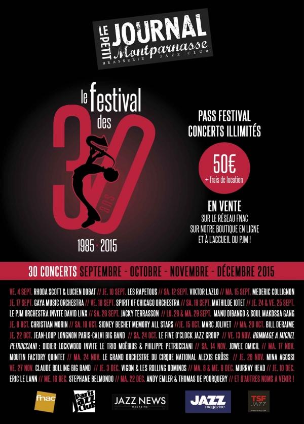 Paris Jazz : Le Petit Journal Montparnasse fête ses 30 ans…