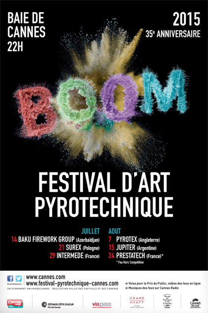 Cannes : «Palmarès 2015 Festival d'Art Pyrotechnique »  …