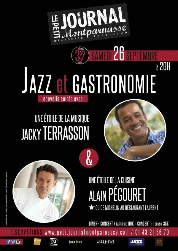 Paris Jazz : Soirée «Jazz et Gastronomie» au Petit Journal Montparnasse en compagnie de Jacky TERRASSON & Alain PÉGOURET …